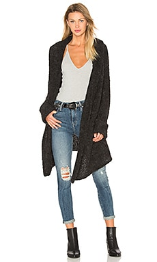 Athena Cashmere Cardigan in Charcoal
