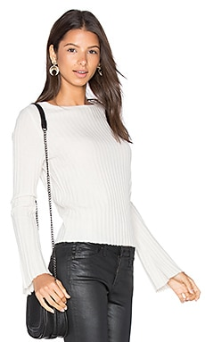 Eugenie Bell Sleeve Sweater in Chalk