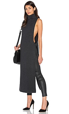 Uneek Cashmere Sleeveless Sweater in Charcoal