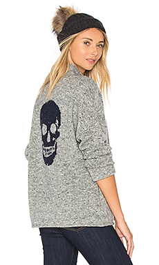 Kat Sweater in Grigio & Blue Skull