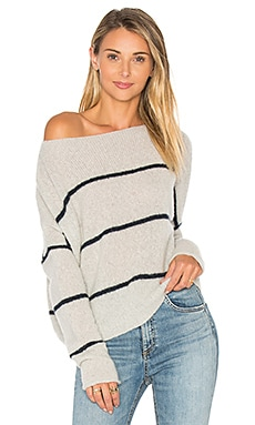 Pia Stripe Sweater in Mist & Petrol