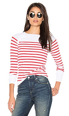 Mayan Stripe Sweater in White & Red