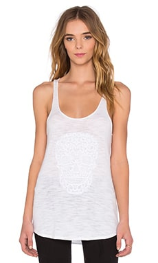 Crochet Skull Tank in White
