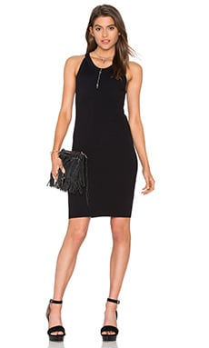 Cut Out Tank Dress in Black