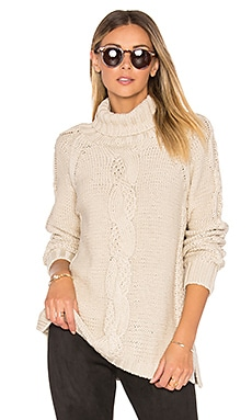 Cable Knit Sweater in French Vanilla