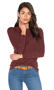 Rib Crew Neck Sweater in Rootbeer