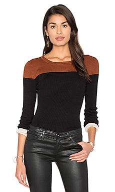 Color Block Sweater in Black Combo
