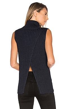Sleeveless Turtleneck Sweater in Classic Navy