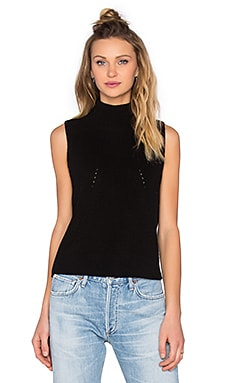 Turtleneck Sleeveless Sweater in Black