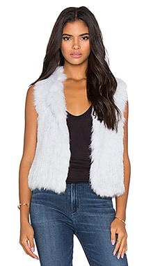 Rabbit Fur Vest in Fresh Blue