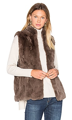 Rabbit Fur Vest in Mink