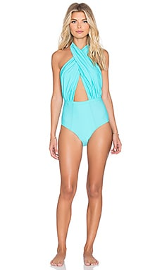 Cabana One Piece in Blue Piscina