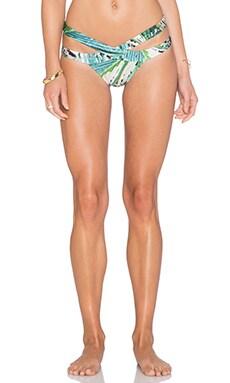Cut Out Bikini Bottom in Leaf & Leopard