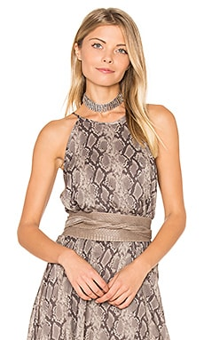 Wrap Belt in Taupe Python