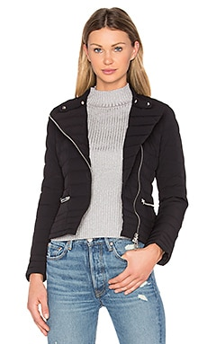 Down Biker Jacket in Black