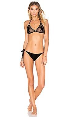 Tulle & Velvet Star Bikini in Black