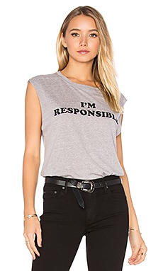Abby 'I'm Responsible' Tank in Heather Grey