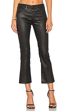 Jodi Crop in Leatherette Light Super Black