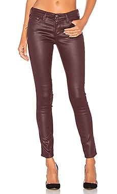 Legging Ankle in Leatherette Light Wine