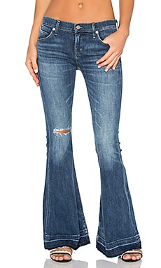 Madison 70's Flare Petite in Starwood Distressed