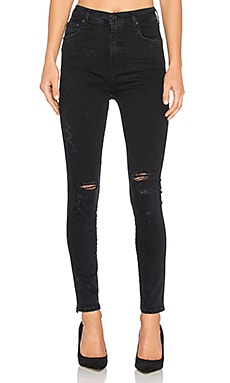 Roxanne Super High Rise Skinny in Princeston Destructed