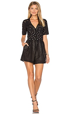 Ann Broderie Romper in Black