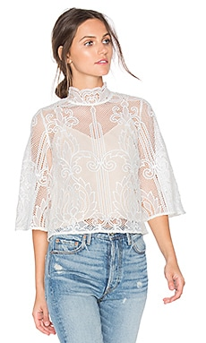 Tatiana Embroidered Blouse in White