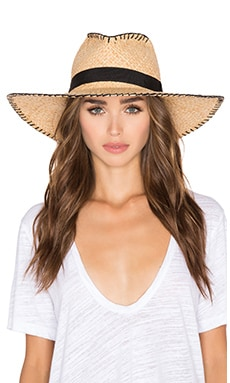 Brava Hat in Natural & Black
