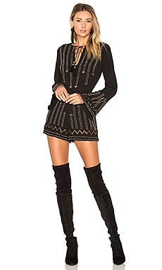 x REVOLVE Edite Embellished Romper in Black
