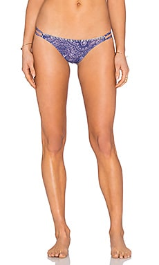 Blanket Stitch Bikini Bottom in Henna Blues