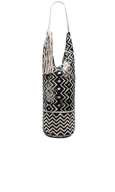 Paz Yoga Bag in Charcoal & Ivory