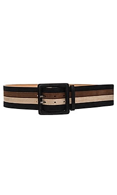 4 Pieced Striped Belt in Natural