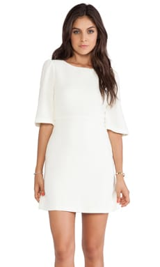 Maely Bell Sleeve Dress in Winter White