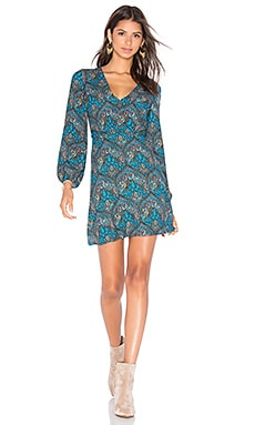 Cary Mini Dress in Ornate Multi