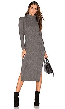 Gwen Rib Midi Dress in Charcoal