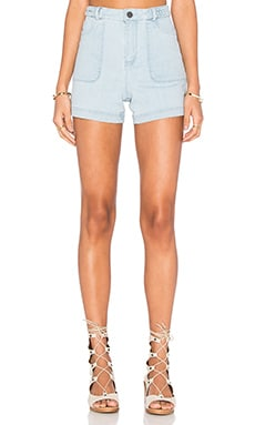 Carsen Short in Light Bleach Indigo