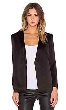 Brevyn Collarless Blazer in Black