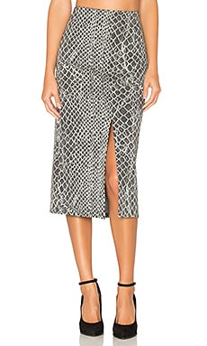 Spiga Pencil Skirt in Grey & Off White