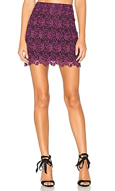 Riley Lace Skirt in Plum & Black