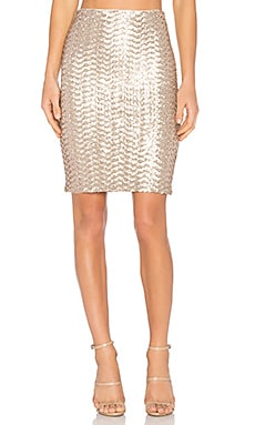 Ramos Sequin Midi Skirt in Nude Pink
