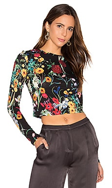 Delaina Crop Top in Midnight Meadow