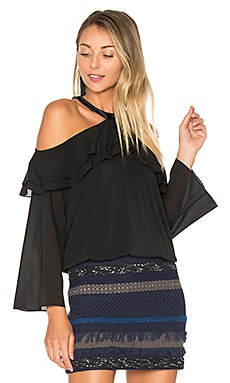 Layla Cold Shoulder Top in Black