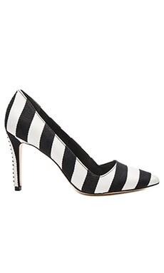 Dina 95 Heel in Black & White Stripe