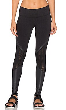 Vitality Legging in Black & Black Glossy
