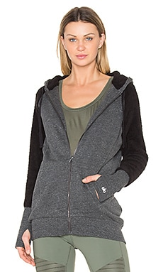 Enhance Jacket with Sherpa in Charcoal Heather & Black