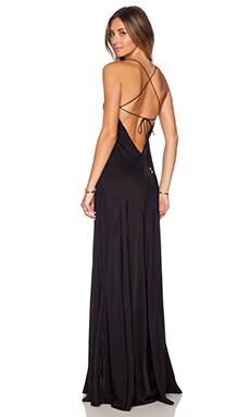 X Back Maxi Dress in Black