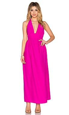 Mercer Halter Maxi Dress in Hot Pink Light