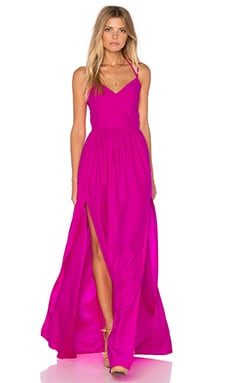 Rio Maxi Dress in Hot Pink Light
