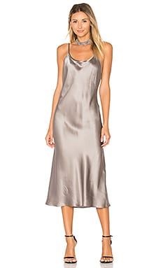 x REVOLVE Slip Dress in Platinum