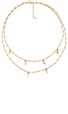 Fuck It Necklace Set in Gold